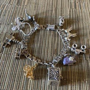 Sterling silver charms vintage bracelet